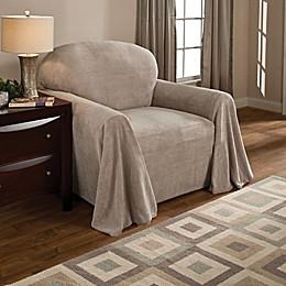 Coral Polyester Fleece Chair Throw Cover