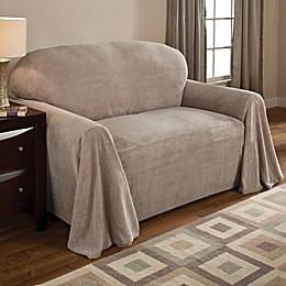 Coral Polyester Fleece Sofa Throw Cover