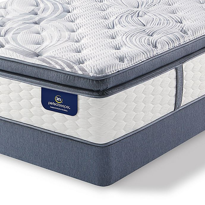 Alternate image 1 for Serta® Perfect Sleeper® Southboro Firm Super Pillow Top Low Profile Queen Mattress Set