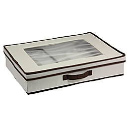 Household Essentials® Tabletop Set Storage Box in Cream/Brown