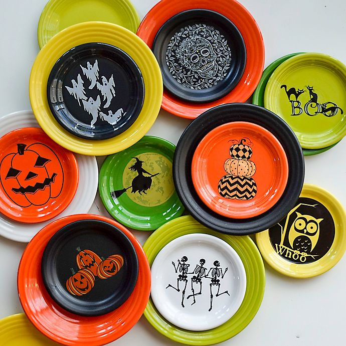 Halloween Appetizer Plates | Fiesta Halloween Luncheon And Appetizer Plate Collection Bed Bath