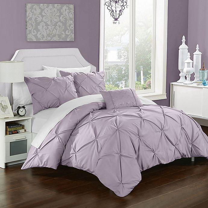 Alternate image 1 for Chic Home Weber Queen Duvet Cover Set in Lavender