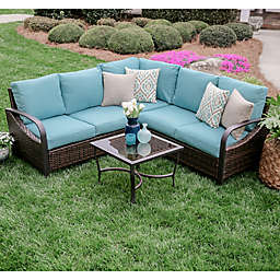 Leisure Made Trenton 4-Piece Sectional Set with Cushions