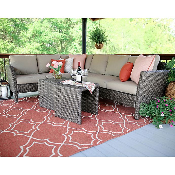 Alternate image 1 for Leisure Made Canton 6-Piece Sectional Patio Furniture Set in Tan