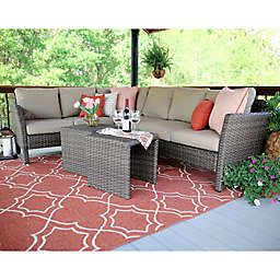 Leisure Made Canton 6-Piece Sectional Patio Furniture Set in Tan