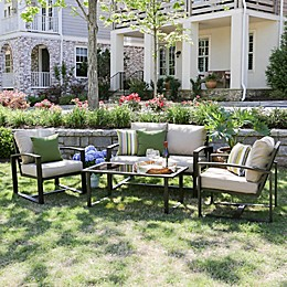 Jasper 4-Piece Seating Set with Cushions