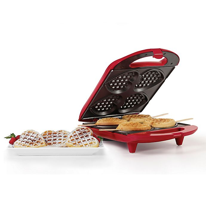 Alternate image 1 for Holstein® House Heart-Shaped Waffle Maker in Red