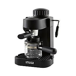 IMUSA® 4-Cup Espresso/Cappuccino Maker in Black