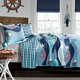 Lush Décor Sea Life Reversible Quilt Set