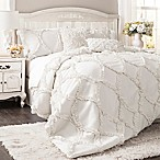 Lush Décor Avon 3-Piece Queen Comforter Set in White