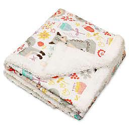 Lush Décor Pixie Fox Reversible Blanket in Grey