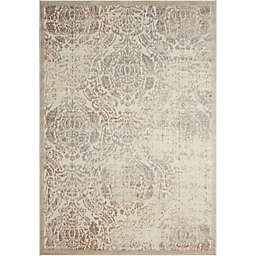 Nourison Graphic Illusions Machine Woven Area Rug in Ivory