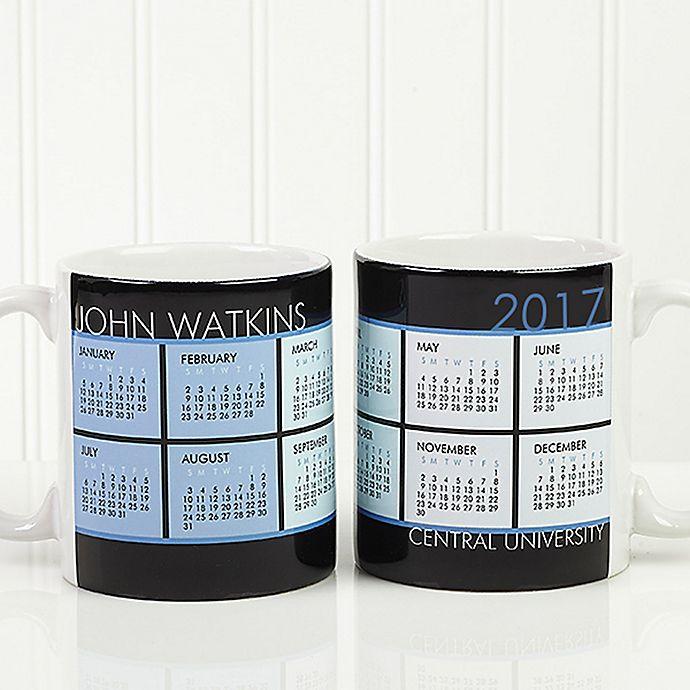 Alternate image 1 for It's a Date Calendar 11 oz. Coffee Mug in White