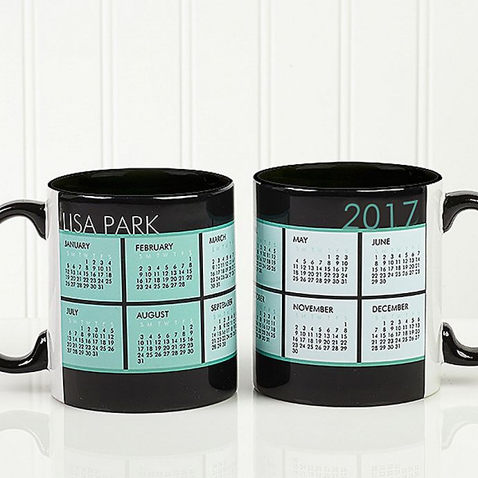 Alternate image 1 for It's a Date Calendar 11 oz. Coffee Mug in White/Black