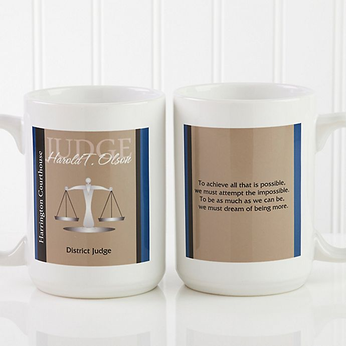Alternate image 1 for Legal Ease 15 oz. Coffee Mug in White