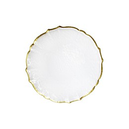 Charge It by Jay Ice Queen Charger Plate in White/Gold