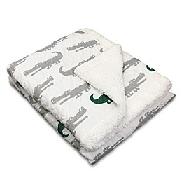 Lush Décor Alligator Throw Blanket in Grey