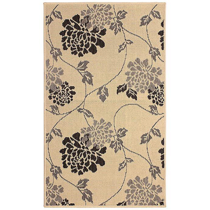 Alternate image 1 for Laura Ashley® Jaya Chrysanthemum Indoor/Outdoor Rug