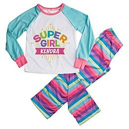 """Super Girl"" 2-Piece Pajama Set in Blue"