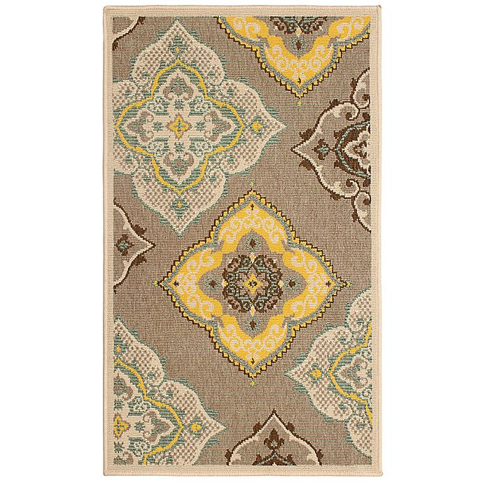 Alternate image 1 for Laura Ashley® Jaya Allie Indoor/Outdoor 2-Foot x 3-Foot Accent Rug in Taupe