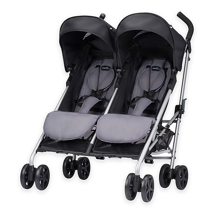 Evenflo Minno Twin Double Stroller In Glenbarr Grey Buybuy Baby