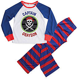 Personalized Planet 2-Piece Pirate Pajama Set in Blue