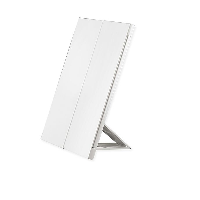 Conair Trifold 1x Lighted Vanity Mirror In White Bed Bath Beyond