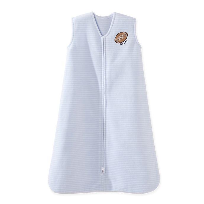 Alternate image 1 for HALO® SleepSack® Football Fleece Wearable Blanket in Blue