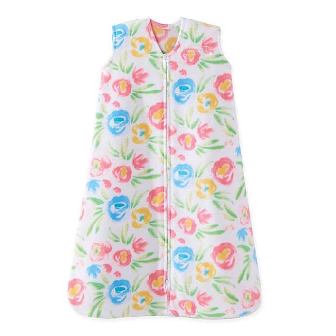 Alternate image 1 for HALO® SleepSack® Water Floral Fleece Wearable Blanket in White