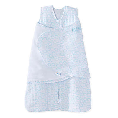 HALO® SleepSack® Circles Muslin Cotton Swaddle in Blue