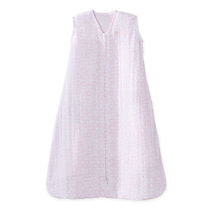 Alternate image 1 for HALO® SleepSack® Circles Cotton Wearable Blanket in Pink