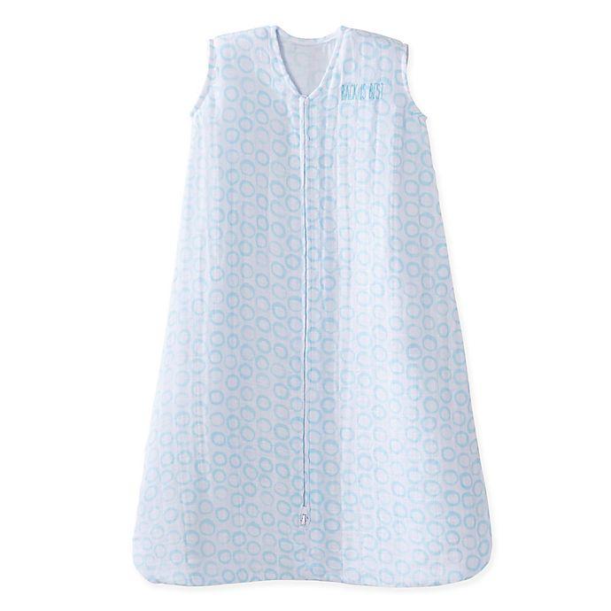 Alternate image 1 for HALO® SleepSack® Circles Cotton Wearable Blanket in Blue