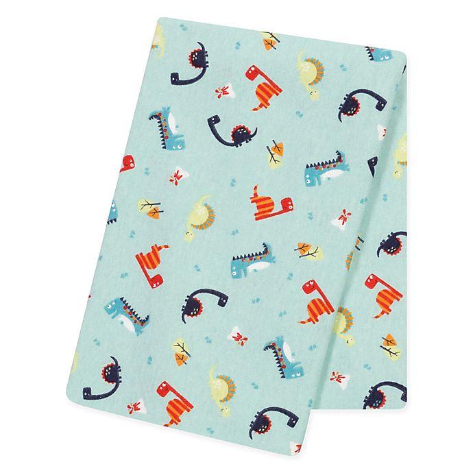 Alternate image 1 for Trend Lab® Dinosaurs Jumbo Flannel Swaddle Blanket