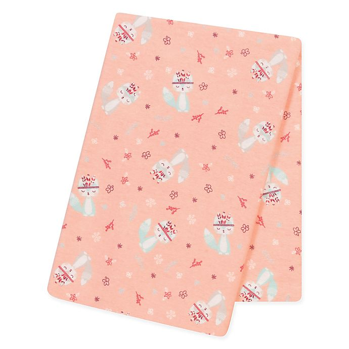 Alternate image 1 for Trend Lab® Fox and Flowers Flannel Swaddle Blanket