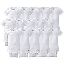 Gerber ONESIES® Brand Size 0-9M 15-Pack Short Sleeve Bodysuits in White