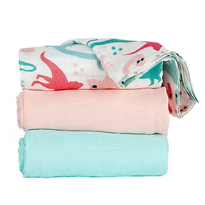 Baby Tula Tulaceratops Baby Blankets (Set of 3)