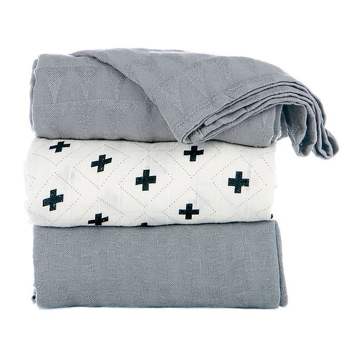 Alternate image 1 for Baby Tula Splatter Jet Baby Blankets (Set of 3)