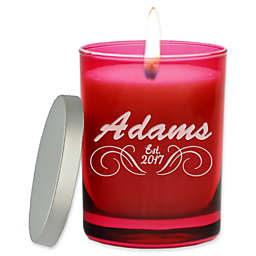 Carved Solutions Gem Collection Unscented Soy Wax Glass Candle in Ruby