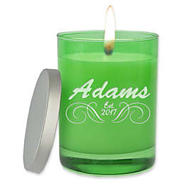 Carved Solutions Gem Collection Unscented Soy Wax Glass Candle in Emerald