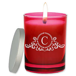 Carved Solutions Gem Collection Unscented Elegant Soy Wax Glass Jar Candle in Ruby