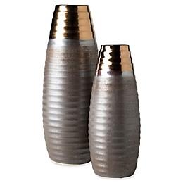 Surya Croft 2-Piece Vase Set in Light Brown