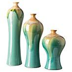 Surya Gillian Transitional Decorative Vases in Blue/Gold (Set of 3)