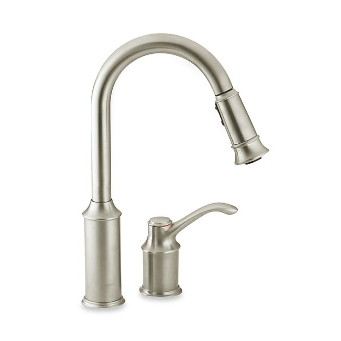 Stupendous Moen Aberdeen Pull Out One Handle Kitchen Faucet Bed Download Free Architecture Designs Rallybritishbridgeorg