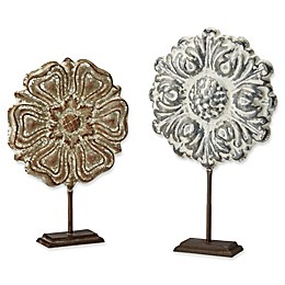 Madison Park Harlowe 2-Piece Painted Iron Sculpture Set in Natural