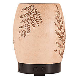 ScentSationals Fern Small Lighted Ultrasonic Essential Oil Diffuser in Tan/Green