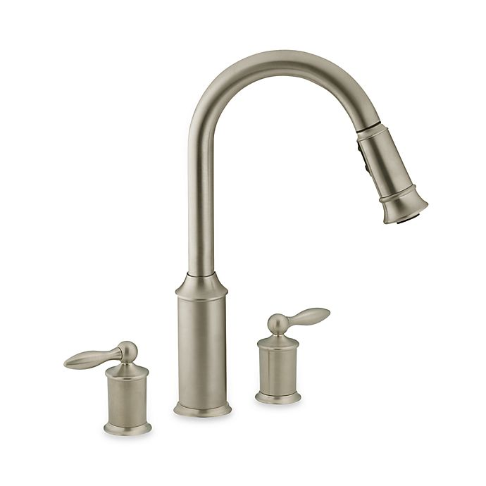 Moen Aberdeen Pull Out Two Handle Kitchen Faucet