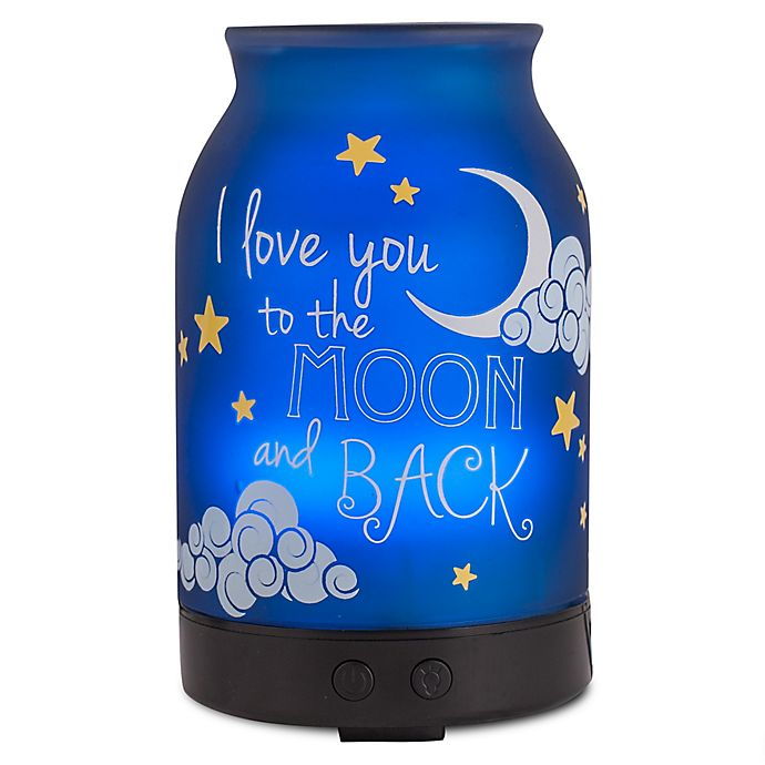 Alternate image 1 for ScentSationals To the Moon Small Lighted Ultrasonic Essential Oil Diffuser in Blue/White