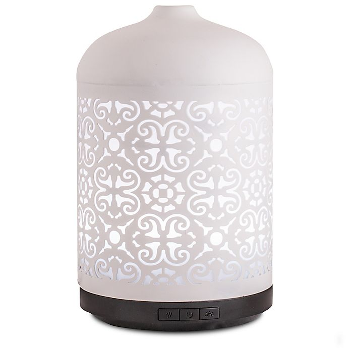 Alternate image 1 for ScentSationals Anika Large Lighted Ultrasonic Essential Oil Diffuser in White