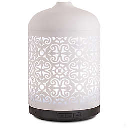ScentSationals Anika Large Lighted Ultrasonic Essential Oil Diffuser in White