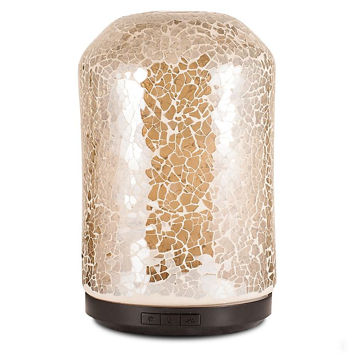 Alternate image 1 for ScentSationals Mosaic Large Lighted Ultrasonic Essential Oil Diffuser in Amber